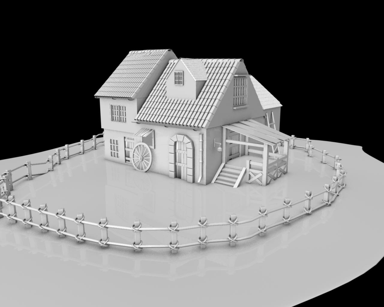3d modeling for Exterior 3d model