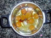 Tarta de San Marcos-yema-ingredientes para la yema