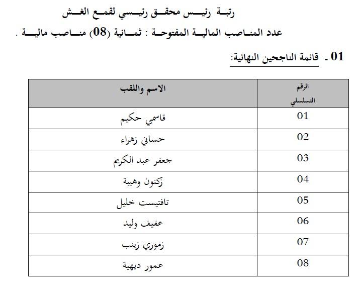 إعلان قائمة الناجحين في مسابقة التوظيف في وزارة التجارة ماي 2014 3.jpg
