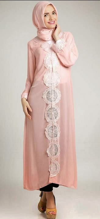 Model Baju Long Dress Muslim Terbaru