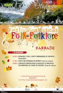FESTIVAL DE FOLKLORE  Lunes 7 de diciembre en Barrado