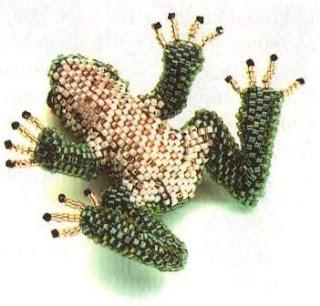 как сделать из бисера лягушку