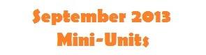 September Mini-Units The Happy Wife (homeschool)