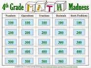 Math Madness Interactive .ppt Game!