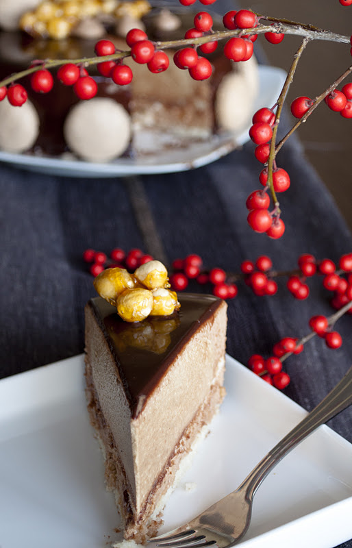 coffee and praline torte