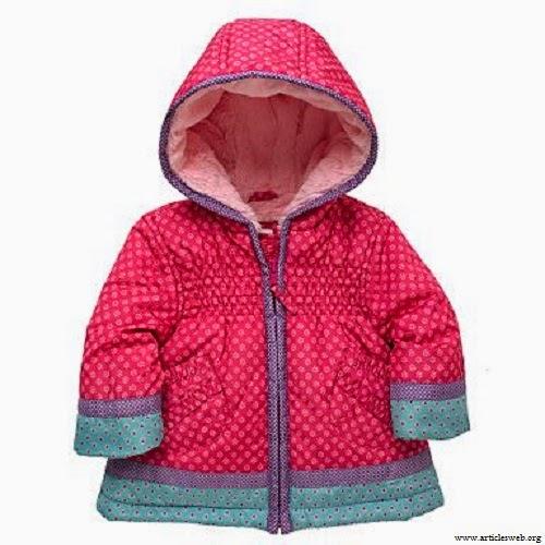 Manteau rose et bleu bébé fille