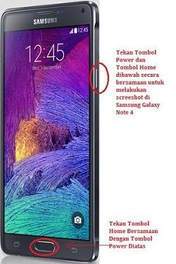 Cara Screenshot Samsung Galaxy Note 4