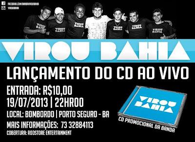 Banda Virou Bahia lança seu primeiro CD