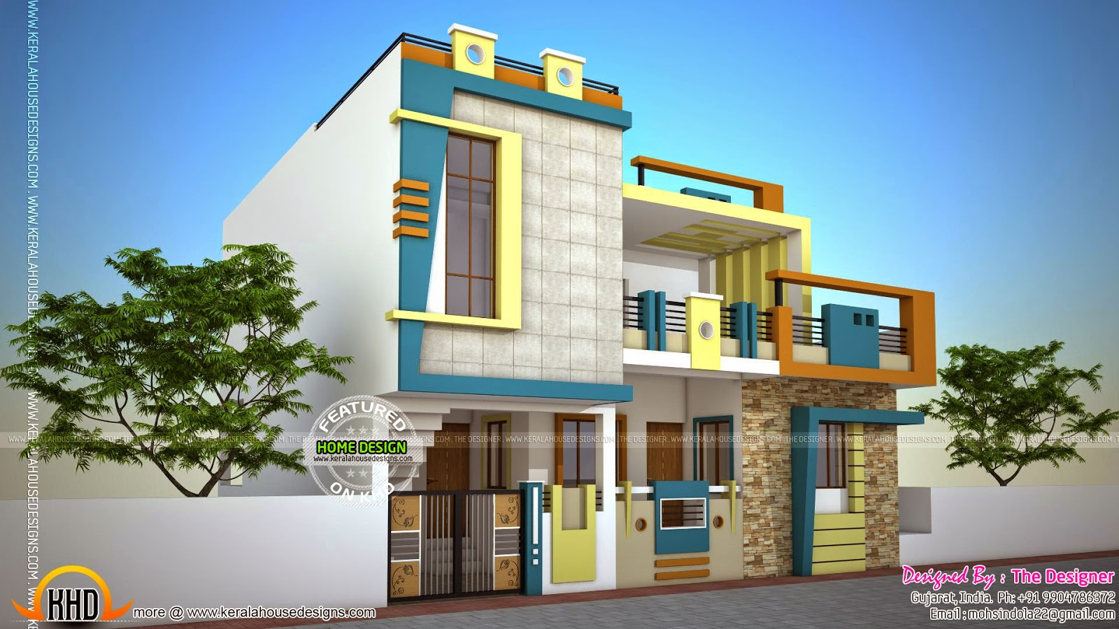 House design for 60 square meter - Contemporary Style House In Gujarat India