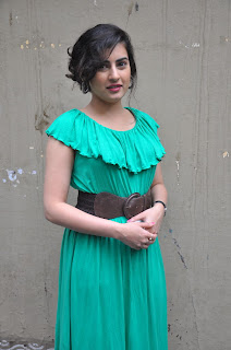 Actress Archana (Veda) New Pictures in Green Dress