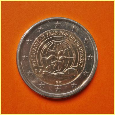 2 Euros Bélgica 2015 Año Europeo Desarrollo
