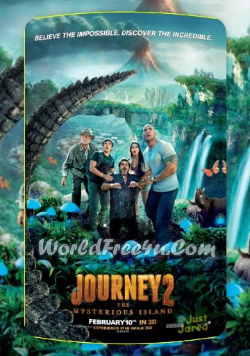 Poster Of Journey 2 The Mysterious Island (2012) Full English Movie Watch Online Free Download At worldfree4u.com