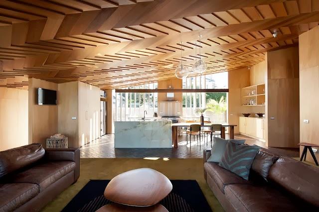 Techos de madera inspiraci n espacios en madera for Ver techos de casas