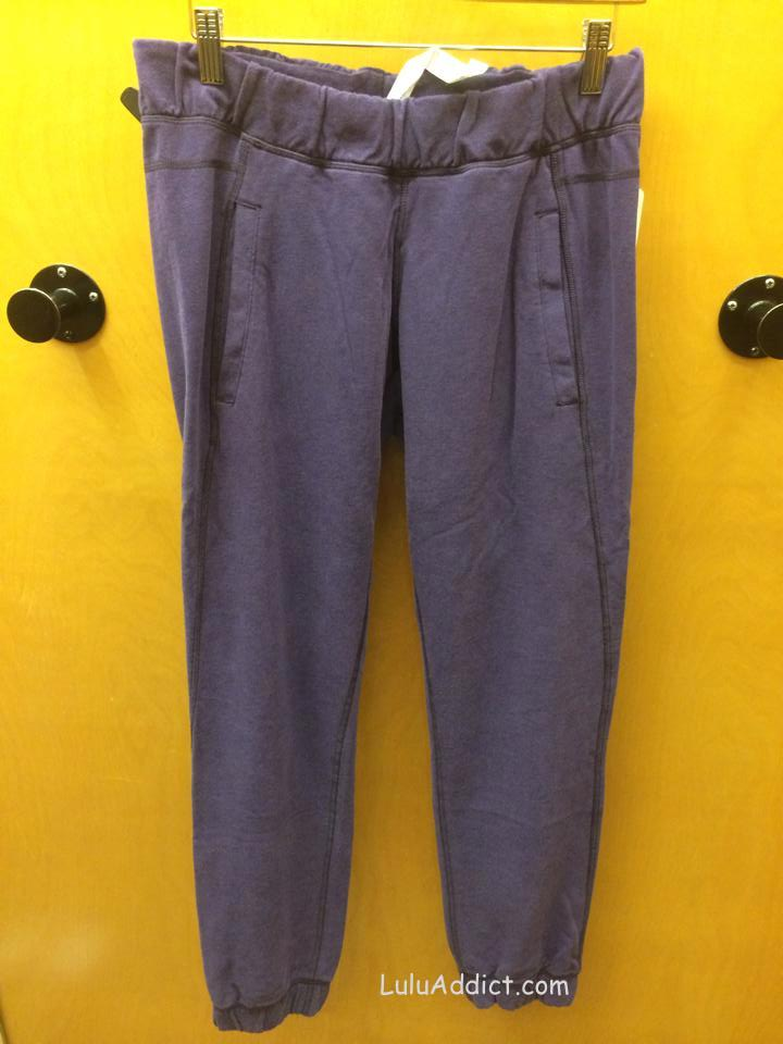 lululemon sattva black grape pant