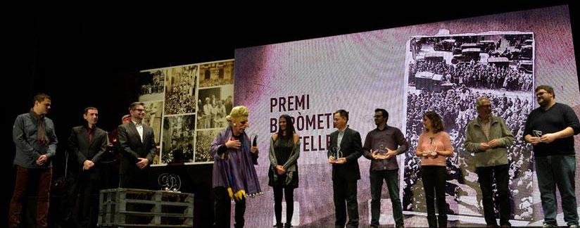 6 colles premiades a la #NitDeCastells amb el Premi Baròmetre 2016