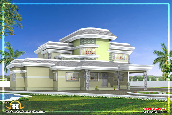 Unique house design in Kerala - 1650 Sq. Ft.