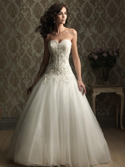 Silhouette Wedding Gowns 47 Fresh Allure Drop Waist Ball