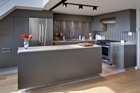Silver Kitchen Cabinets