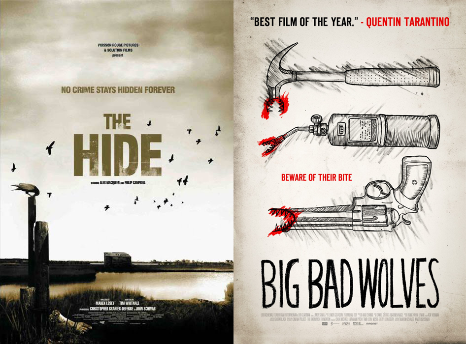 the hide big bad wolves poster comparison