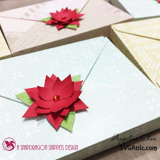 SVG Attic: Christmas Poinsettias with Angeline #svgattic #scrappyscrappy #poinsettia #christmas #winterwishes #svg #cutfile #diecut
