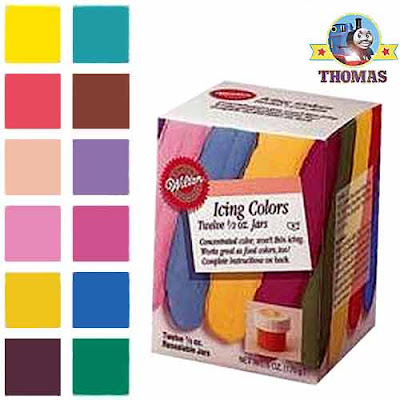 Wilton 601-5580 half ounce icing colors set of 12 make biscuits and Birthday cake designs for kids