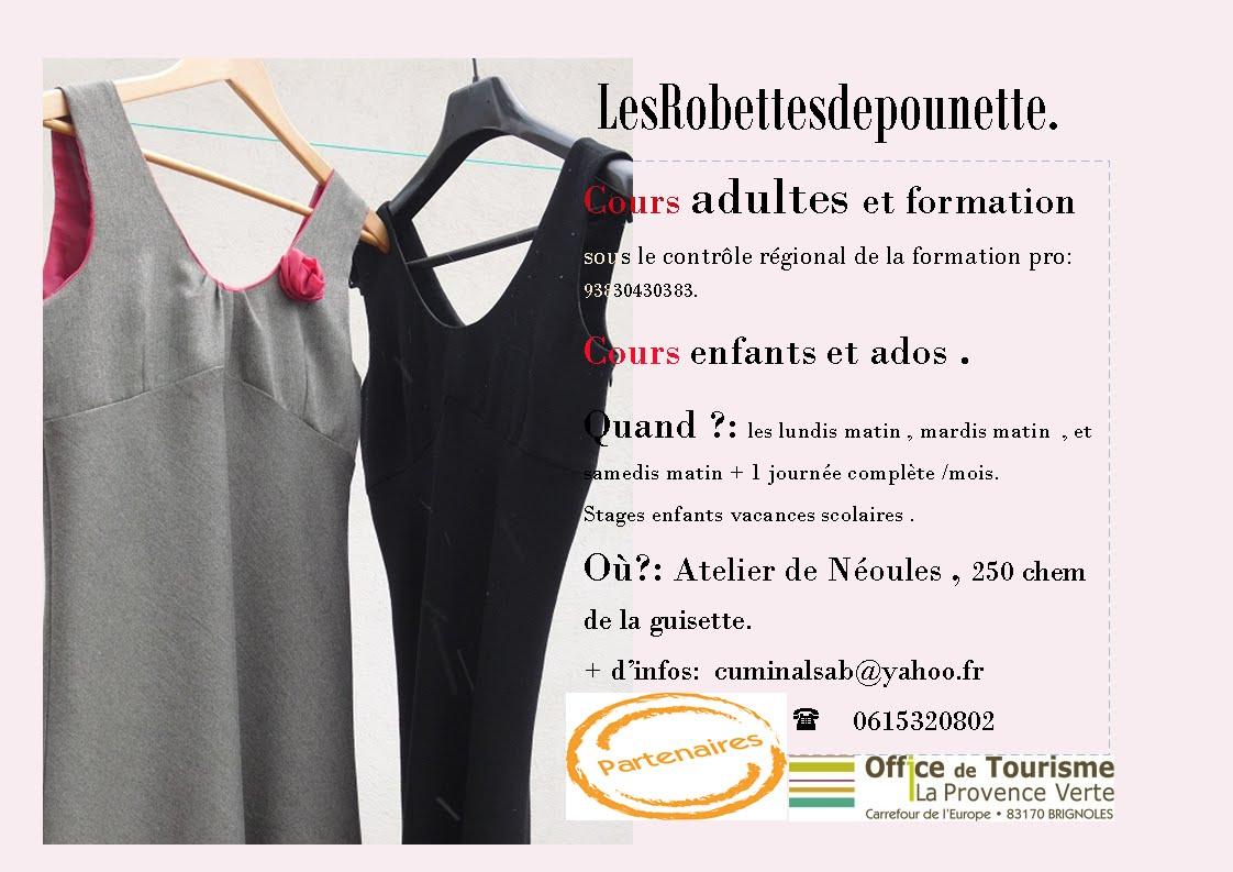 Lesrobettesdepounette, créations, couture, patronage, cours , formation.