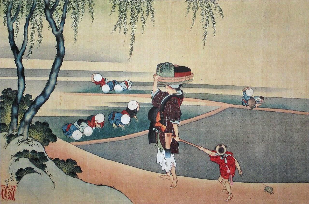Hokusai, repiquage du riz