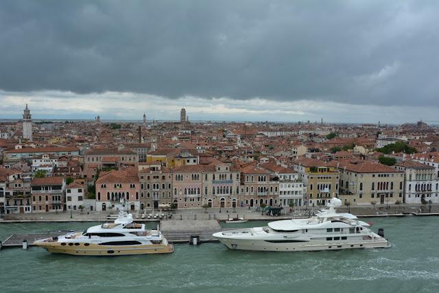 Cruising into Venice yachts