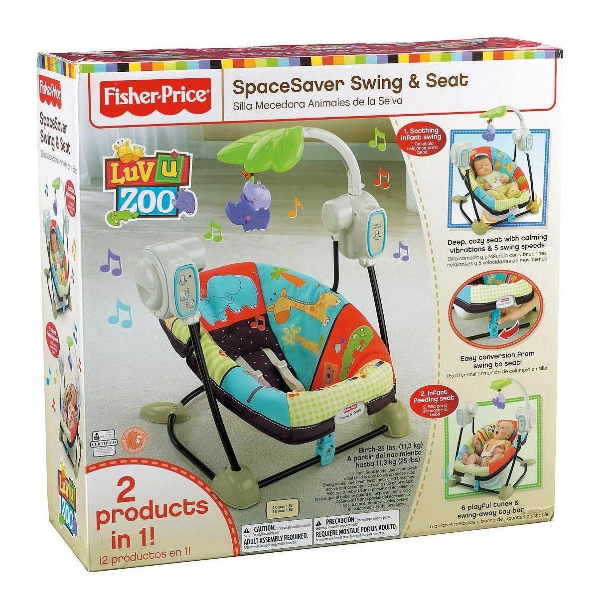 Fisher price luv u zoo swing fisher price luv u zoo for Silla fisher price