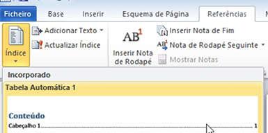 Como criar um índice no Word automático