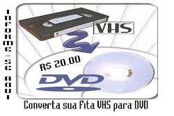 CONVERTA SUA FITA VHS P/ DVD