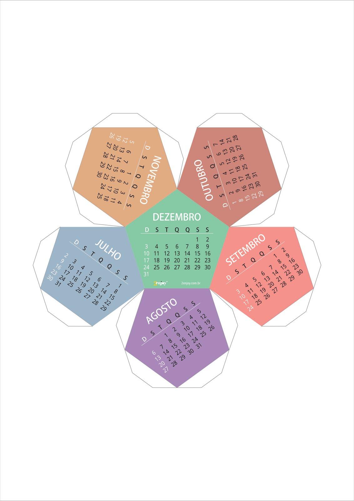 Calend rio 2017 3d gr tis para baixar e imprimir 2 enjoy - Plantilla calendario de mesa ...
