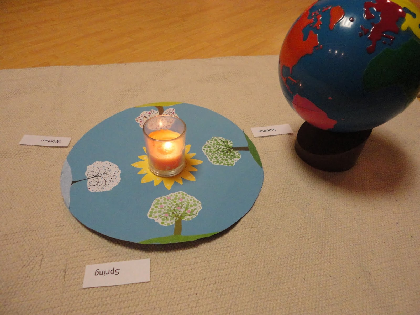 Study of Biomes and Sun's Energy (Photo from Discovery Days and Montessori Moments)