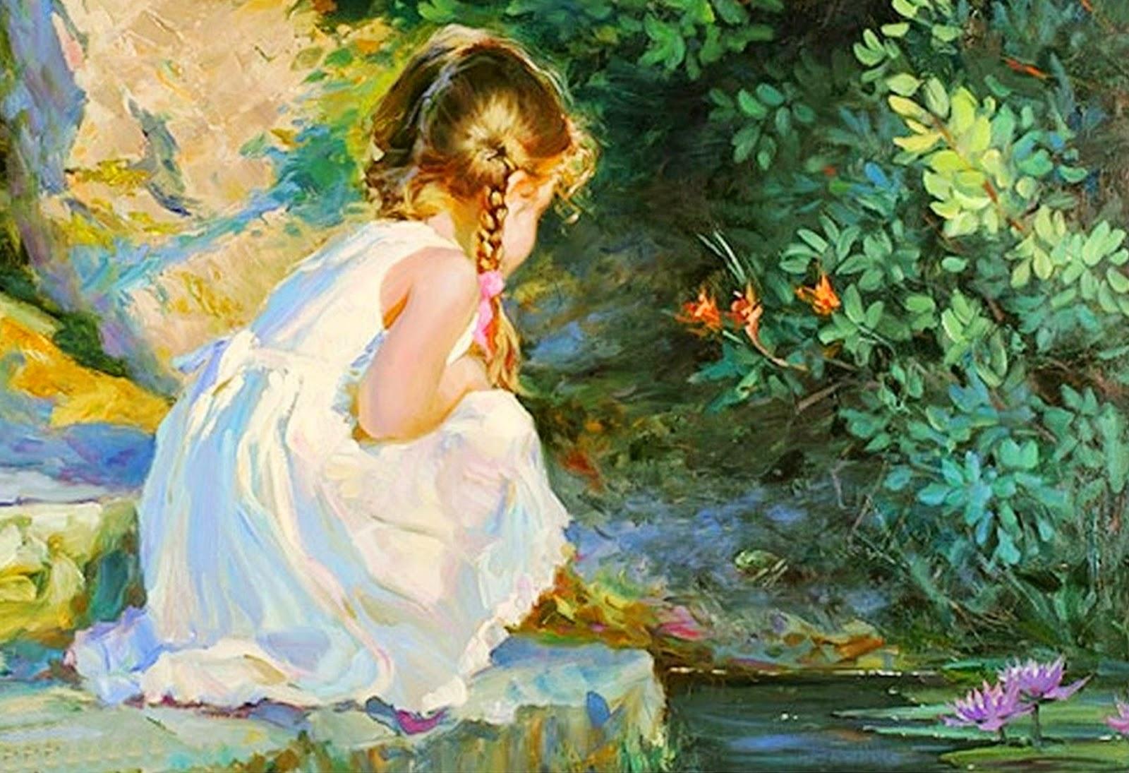 Cuadros pinturas oleos pinturas de ni as arte realista - Los cuadros mas bonitos ...