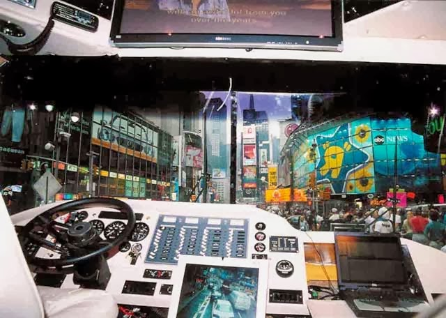 Kokpit Bus unik Gaming bus