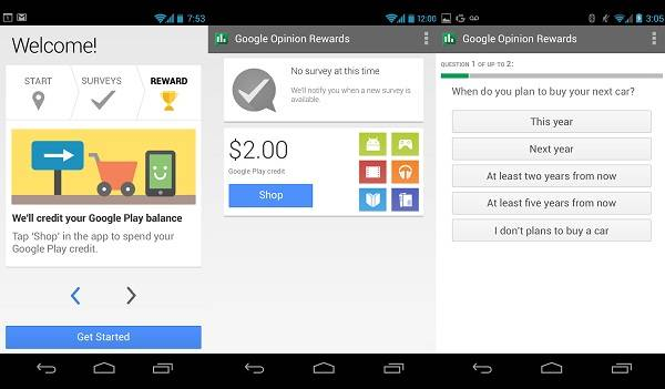How to earn Free Play Store credits with Google Opinion Rewards App