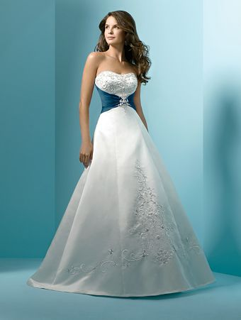White and blue of my bridal gown - wedding dress collection