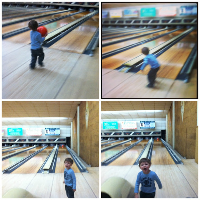 toddler boy bowling