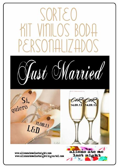 sorteo vinilo personalizado original bodas