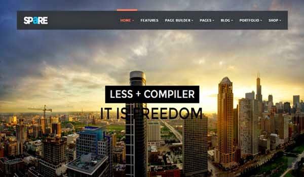 LESS-WordPress-Theme