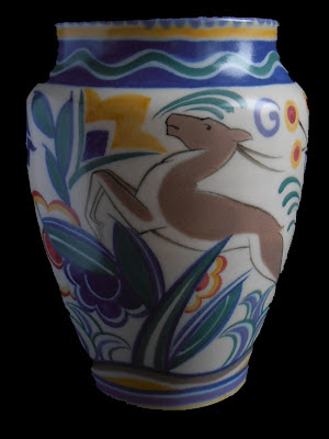 Poole Pottery Art Deco Vase 213 TZ