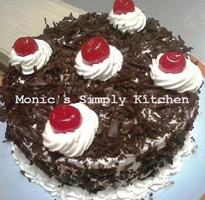 Resep black forest cake mudah