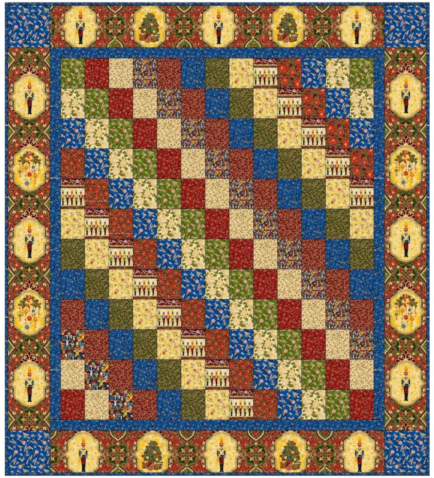 Inspired by Fabric: 12 Days of Christmas: Day 3 : nutcracker quilt - Adamdwight.com