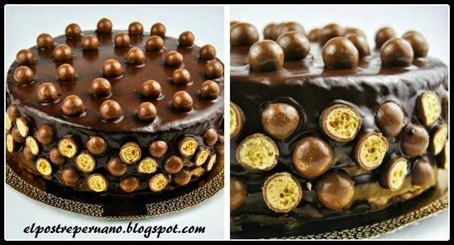 postres de chocolate y maltesers