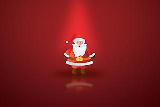 beautiful Christmas Santa cell phone wallpaper for download free.