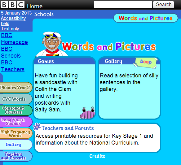 BBC  Schools  Words and Pictures