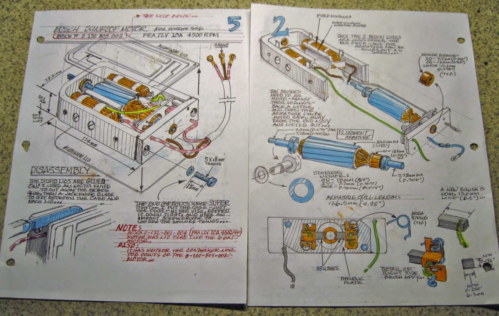 Saab Journal Porsche Sunroof Motor Reconditioning Dim Engine Diagram These Are Just Two Of Eight Pages My Own How To Instructions That I Made As Did The Motors Take A View Recreating