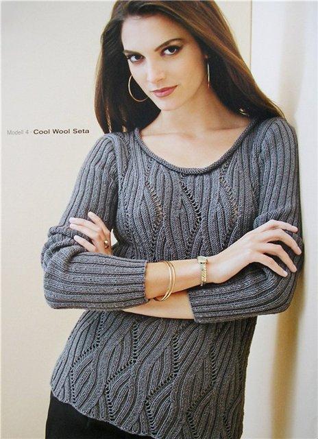 вязание спицами, пуловер, для женщин,
