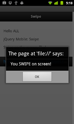 Detect Swipe event in jQuery Mobile