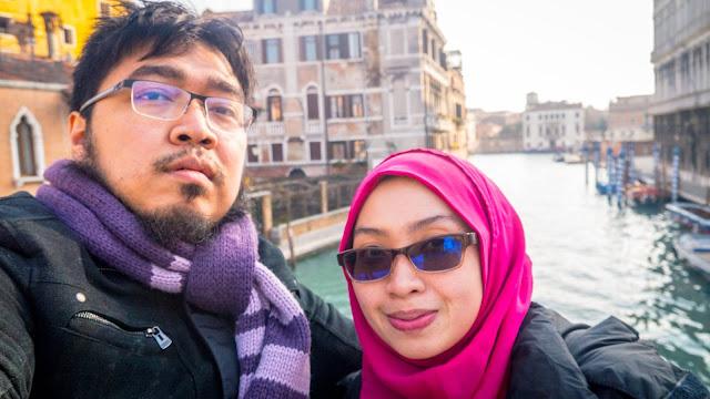 jalan-jalan venice dengan suami